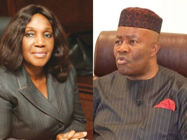 Akpabio nailed Nunieh on live TV, present document why she was sacked as NDDC boss