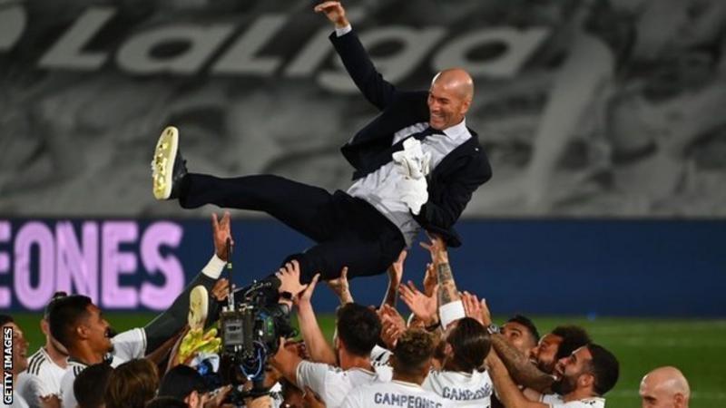 Zidane Return to lift 34th La Liga title with the Spanish Giant Real Madrid