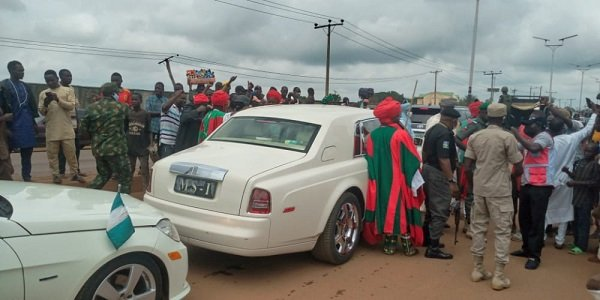 Former Emir Sanusi 11 returns to north in style