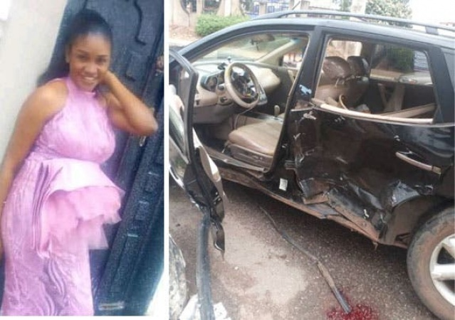 Suspected Yahoo Boy car ram into  Uber car, kill mother, injured baby and driver as Police chase him