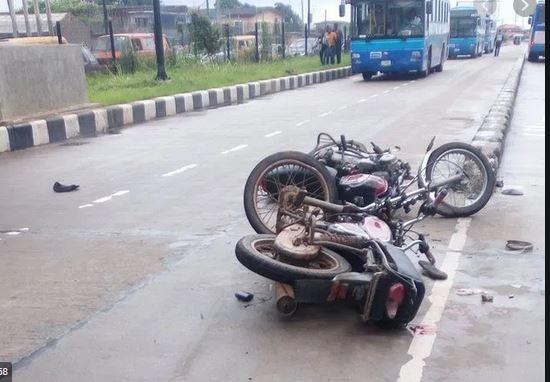 Okada man breaks leg as he collides with BRT on the lane