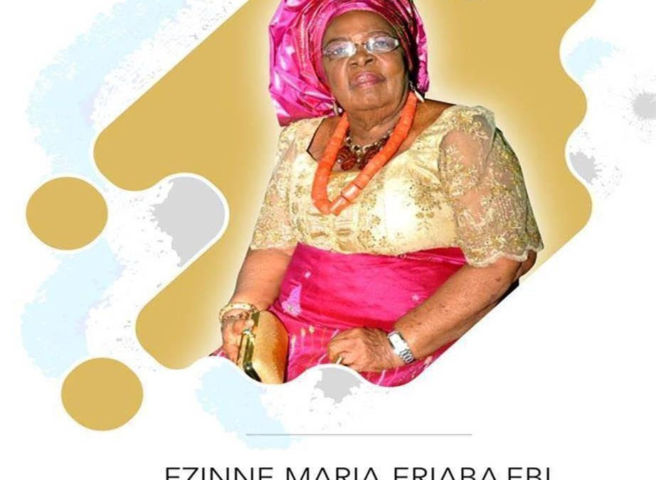 Former Fidelity Bank Chairman's mother Ezinne Maria Ebi to be laid to rest January 29, 2021