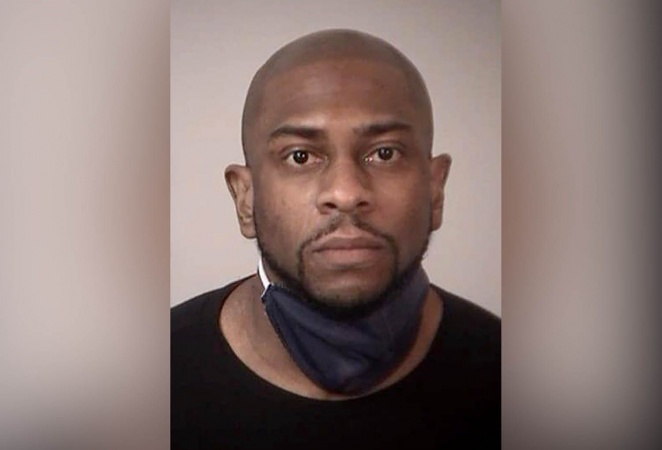 Man arrested after he fell through the ceiling peep into female locker room