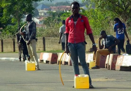 Fuel scarcity hit Abuja, black market system takes over