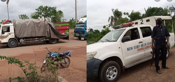 NSCDC, Police, vigilantes escort Fulani's with truckloads of cow out of Kwara
