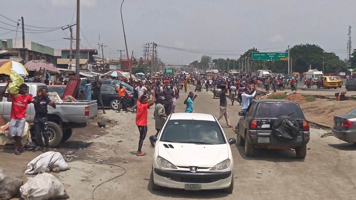 NAF denied death of three person at Ladipo market, says one person reportedly killed