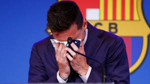 Messi announce his exit from Barcelona in tears after 21 years with the club